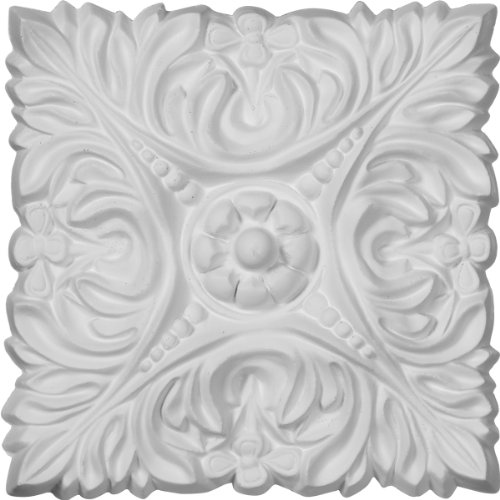 Acanthus Leaf Accents (Ekena Millwork ROS07X07AC 6 1/8-Inch W X 6 1/8-Inch H X 3/4-Inch P Acanthus Leaf with Beads Rosette)