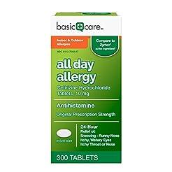 Amazon Basic Care All Day Allergy Cetiri...