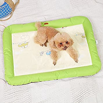 Juneping Summer Pet Dog Mat Bed Puppy Puppy Cooling Mat Pad Cojín Cama para Pitbull Dog House Kennel Nest (Verde, M): Amazon.es: Productos para mascotas