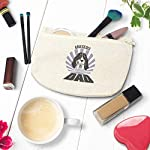 Custom Canvas Makeup Bag Dad Ariegeois Dog School Supplies Pencil Tote Pouch 9x6 Inches Natural Design Only 10