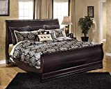 Ashley Furniture Signature Design - Esmarelda Traditional Sleigh Bedset - King Size Bed - Dark Merlot Brown