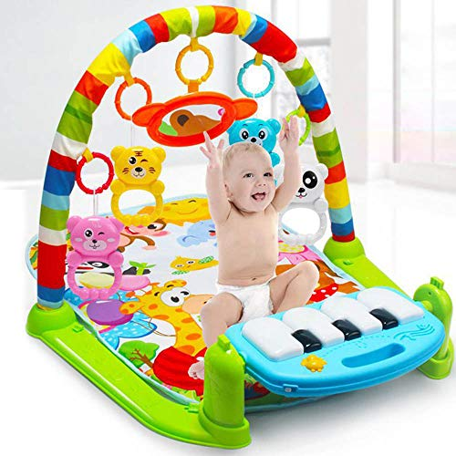 (New Multifunctional Soft Baby Game Pad Activity Piano Pedal Fitness Frame Music Bed Bell Salary Gym Toy Floor Reptile Blanket Blanket)