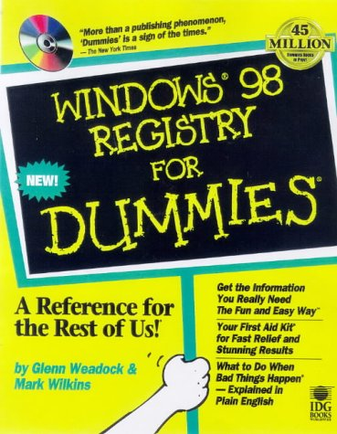 Windows 98 Registry For Dummies by Brand: John Wiley n Sons Inc (Computers)