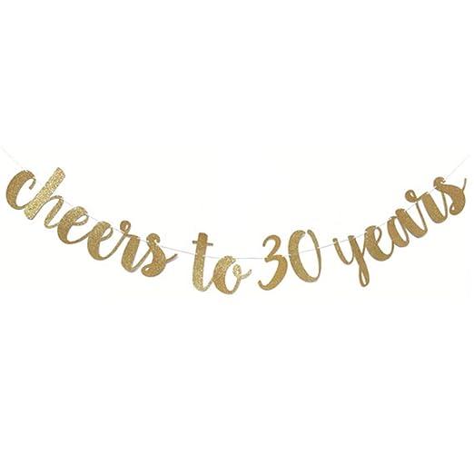 Laughingcv 30/40/50/60 años Decoración de cumpleaños Glitter ...