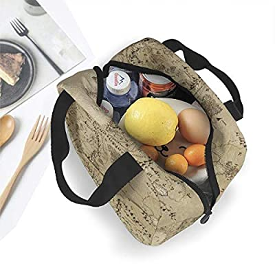 Lord Of the Ring Lunch Bag Tote Bag Lunch Bag for Women Lunch Box Insulated Lunch Container 8.3 x 7.9 Inch: Kitchen & Dining