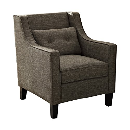 Simpli Home Ashland Club Chair  Fawn Brown