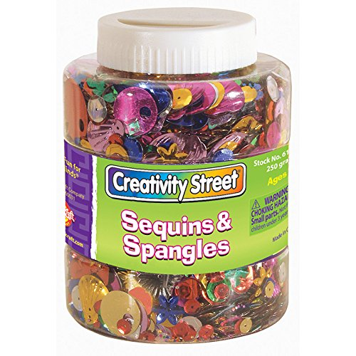(Wholesale CASE of 10 - Chenille Kraft Shaker Jar for Sequins and Spangles-Twist Top Shaker Jar f/Sequins and Spangles, 8.8 Oz., Ast)
