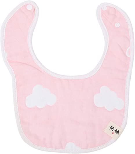 UPKOCH Babero de algodón para bebés Gasa de 6 capas Babero de baba en forma de u Toalla de alimentación de saliva absorbente para bebés y niños pequeños (nubes): Amazon.es: Bebé