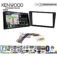 Volunteer Audio Kenwood DNX874S Double Din Radio Install Kit with GPS Navigation Apple CarPlay Android Auto Fits 2001-2005 Honda Civic