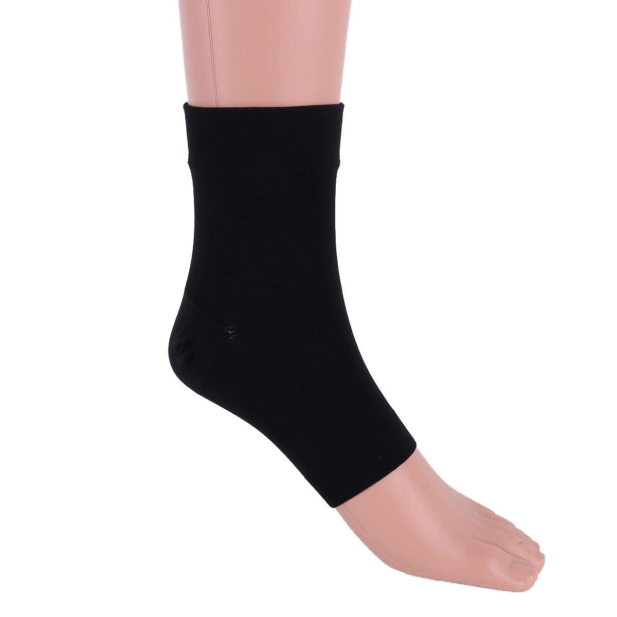 CHICTRY 1 Pair Foot Care Compression Sock #S-XXL Men Women Foot Compression Sleeves for Arch Support Ankle Brace Injury Recovery Eases Swelling Relieves Pain Black M