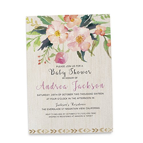 Couples Baby Shower Invitation (