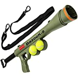 BazooK-9 Tennis Ball Launcher Gun -Rated Best Dog Toy - Includes 2 Squeaky Balls for a Bazooka Semi Automatic Blast