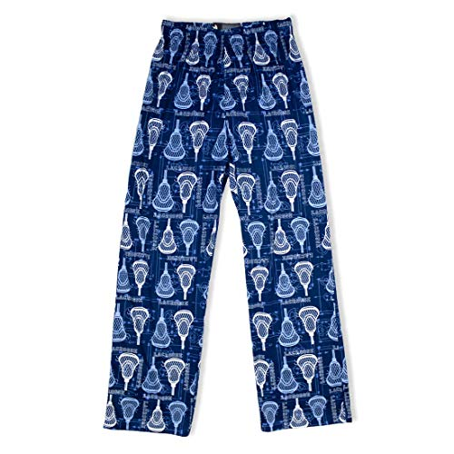 Navy Lacrosse Heads Lounge Pants-Adult-XLarge