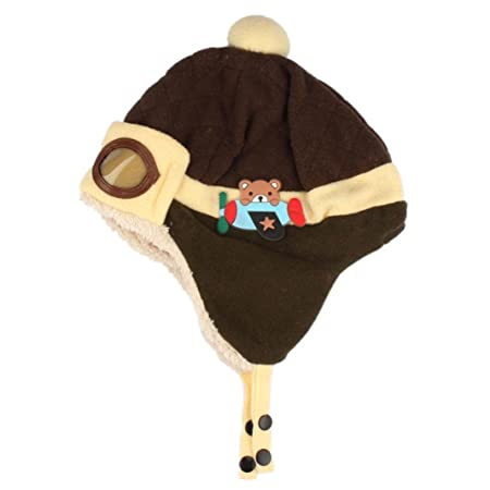 8defe748c29 Tonsee® Toddlers Cool Baby Boy Girl Kids Infant Winter Pilot Aviator Warm  Cap Hat Beanie ...