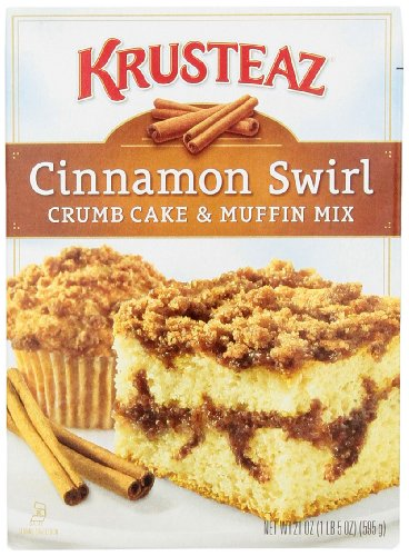 Krusteaz Crumb Cake & Muffin Mix Cinnamon Swirl, 21 oz - Muffin Cake Mix