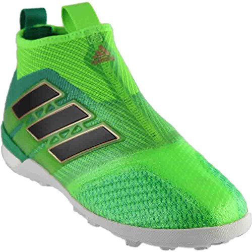 adidas Mens ACE TANGO 17+ PURECONTROL TF Turf Soccer Cleats (Sz. 9.5) Solar Green (9.5 Soccer Turf Cleats)