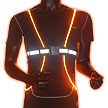 Reflective Safety Led Vest for Running, Walking, Cycling, Snowboarding, Luminous Safety Bands with high visibility, Adjustable, Lightweight, Waterproof - for Men, Women and Kids