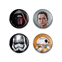 WinCraft Disney Star Wars Button 6-Pack, Collector Pack of 6