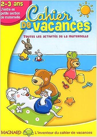 cahier de vacances 3 ans