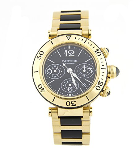 Cartier Pasha 18K Yellow Gold Mens Chronograph Watch W301970M (Certified Pre-owned)