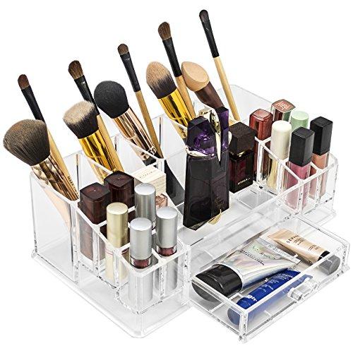 Sorbus Acrylic Cosmetics Makeup and Jewelry Storage Case Dis