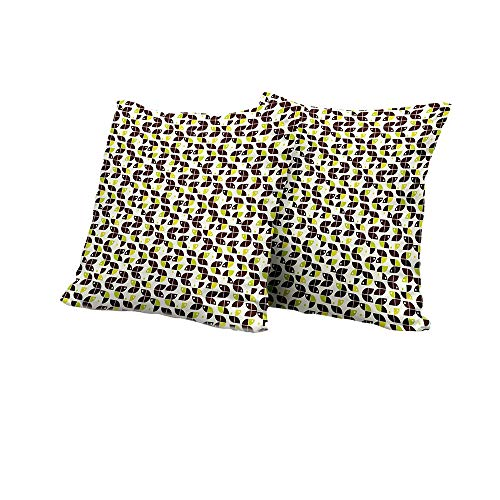 Cushion Chestnut Brown Sunbrella - All of better Pillowcase Geometric,Retro Surreal Circle Forms Dots Sixties Inspired Design,Apple Green Chestnut Brown Cream Cute Cushion Covers 24x24 INCH 2pcs
