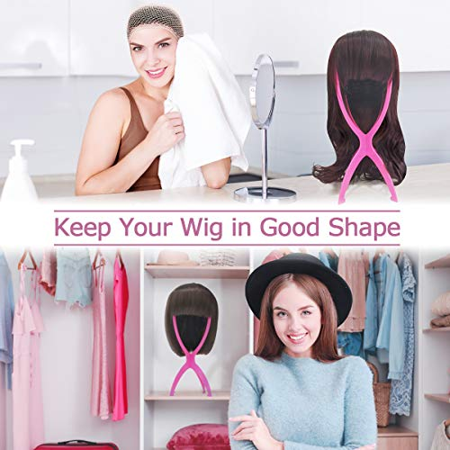 Deamlover Wig Holder Stand, Plastic Wig Stand, Collapsible Wig Stand for Wigs, 1 Pack