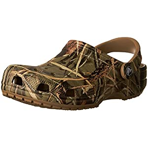 Crocs Men's and Women's Classic Realtree Casual Comfort Clog, Slip On Camo Shoe