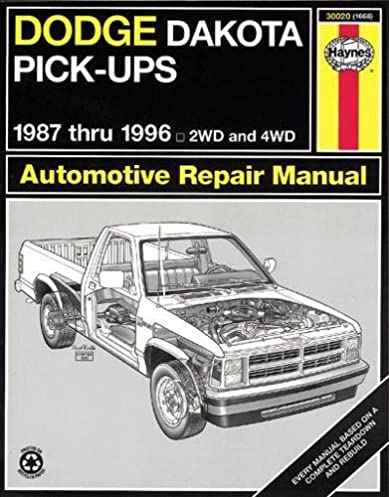 dodge dakota pickup 87 96 haynes repair manuals haynes rh amazon com Dodge Dakota Automatic Transmission Shifter Rod 95 dodge dakota manual transmission fluid