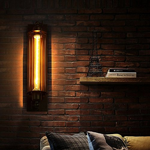 Leoie Loft Vintage Wall Lamp Black Retro Antique Ceiling Lamp Metal Industrial Decor Lighting