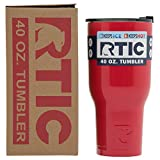 RTIC Double Wall Vacuum Insulated Tumbler, 40 oz, Red
