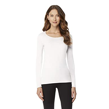 1058c75d61edf 32 DEGREES Womens Cosy Heat Scoop Neck Baselayer Top, White, Small