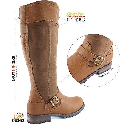 Dailyshoes Da Donna Cinturino Alla Caviglia Con Cinturino Alla Caviglia Militare Stivali Da Combattimento Tan Sv