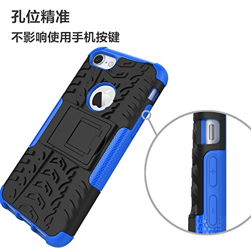 Berry Accessory iPhone 8 Case,iPhone 7 Case,Heavy Duty Protective Cover Dual Layer Hybrid Shockproof Protective Case with Kickstand Hard Phone Case Cover for iPhone 7//8 4.7 Inch White