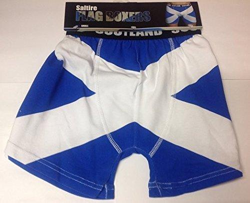 Scotland Saltire Flag Boxer Shorts (X-Large)