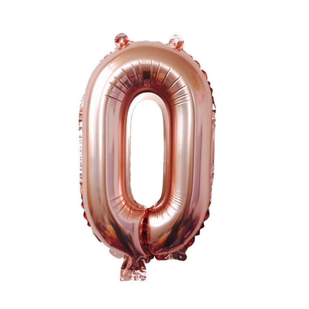 Compleanno palloncino Bambini Ballon numero 0-9 in oro rosa Numero per anniversario compleanno, regalo decorazione del partito stagnola palloncino matrimonio bambini compleanno compleanno, 32 pollici Poetryer