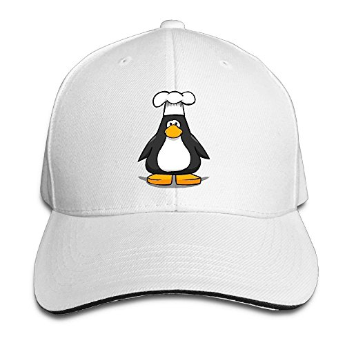 Chef Penguin - NO4LRM Men's Women's Penguin Chef Hat Cotton Adjustable Peaked Baseball Cap Adult Sandwich Hat
