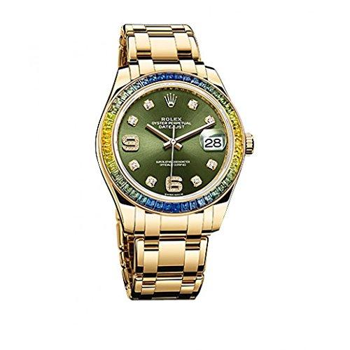 Rolex Datejust Green Dial Men's Watch 86348