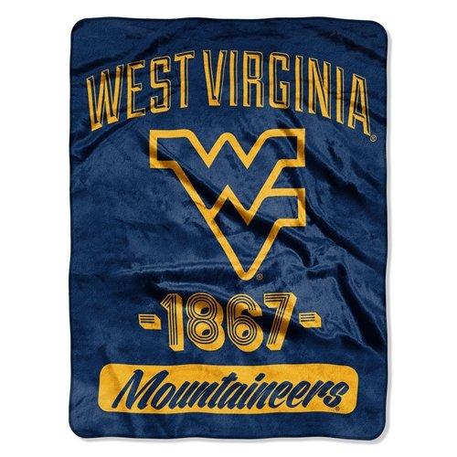 60' Micro Raschel Blanket - West Virginia Mountaineers 46x60'' Micro Raschel Throw Blanket - Rolled - Varsity