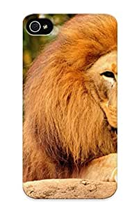 Case For Iphone 4/4s Tpu Phone Case Cover(lion ) For Thanksgiving Day's Gift