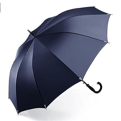 Paraguas De Gran Tamaño para Empresas Mango Largo Diseño Mejorado A Prueba De Viento Mango Antideslizante