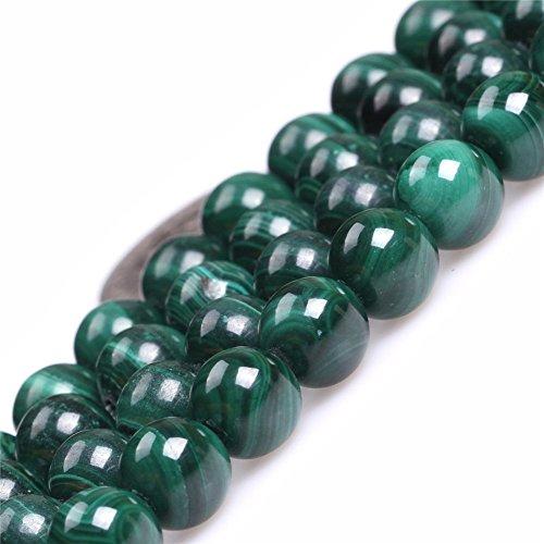 Malachite Beads for Jewelry Making Natural Gemstone Semi Precious 8mm Round AAA Grade Green 15