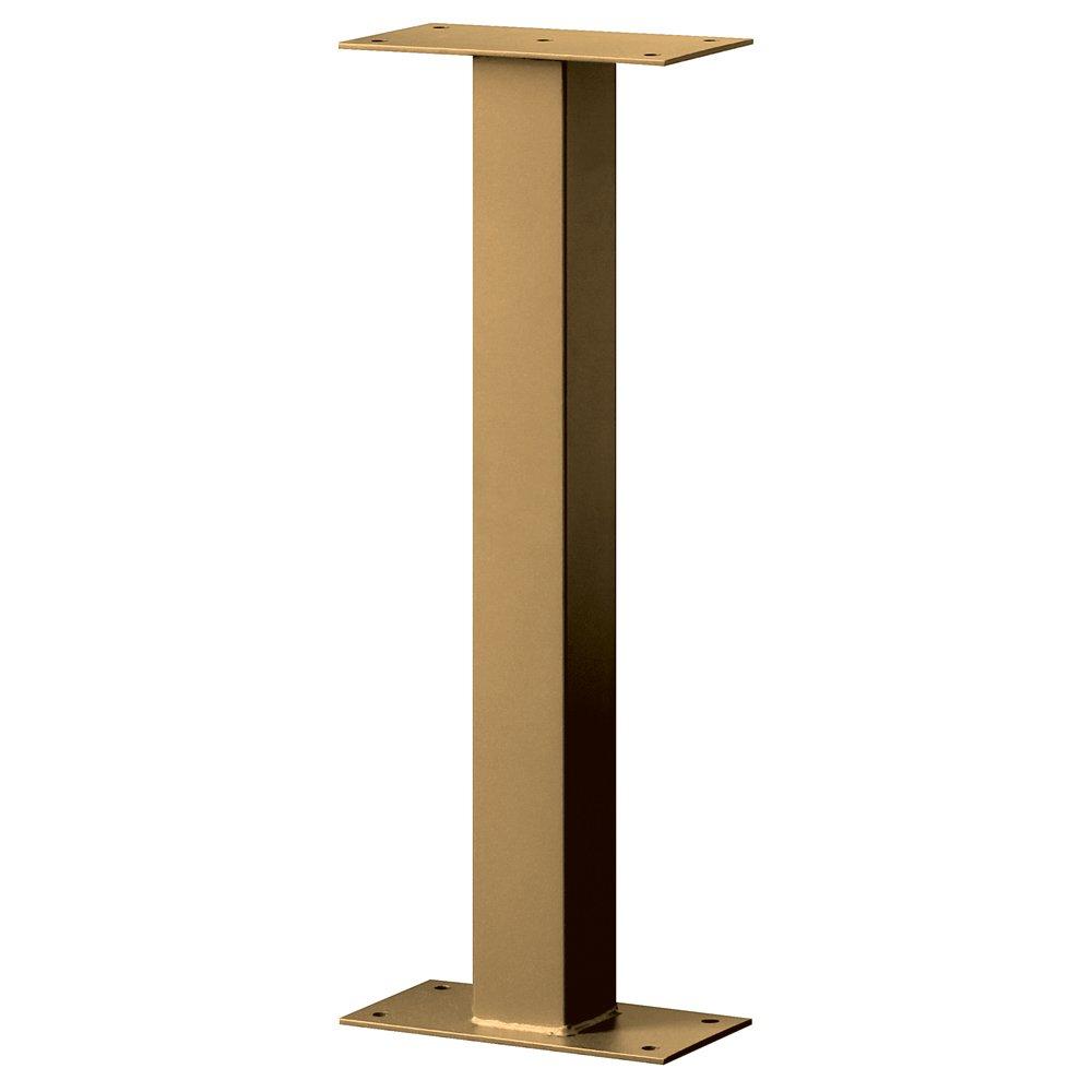 Salsbury Industries 4365D-BRS Standard Pedestal Bolt Mounted for Designer Roadside Mailbox, Brass