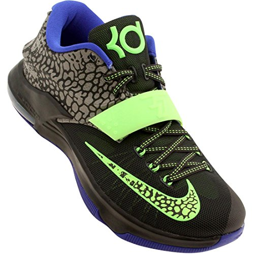 nike KD VII mens basketball trainers 653996 sneakers shoes kevin durant (uk 11 us 12 eu 46, metallic pewter flash lime anthracite 030)