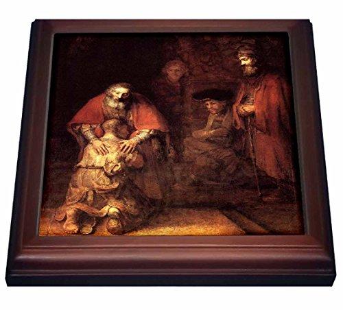 (3dRose trv_203890_1 Print of Rembrandt Painting The Prodigal Son Trivet with Ceramic Tile, 8
