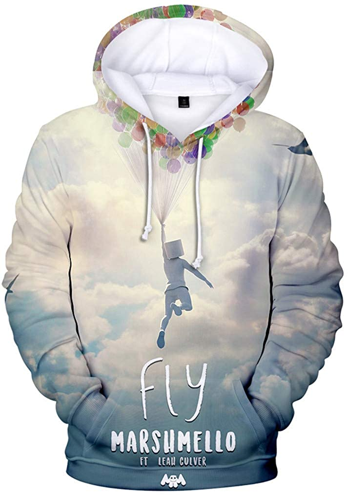New Way 1136 Youth Hoodie Marshmello DJ Smiley Face