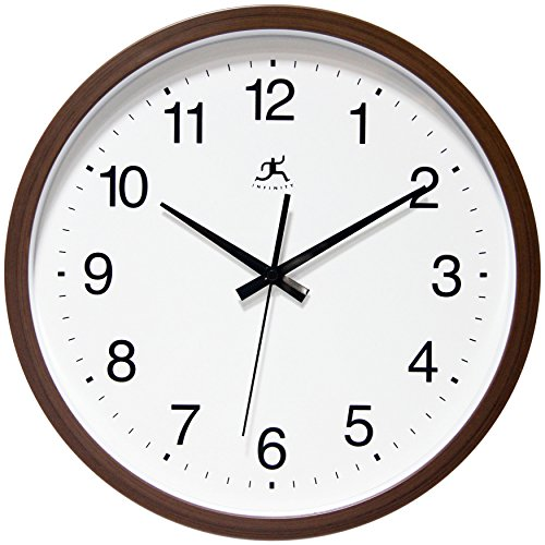 (Infinity Instruments Walnut Finish Clock, Walnut)