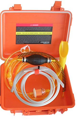 GasTapper Portable Liquid Transfer Gasoline Water Siphon in a Solid Fume Proof Case 18 Feet of Fuel Hose & Modern Car Adapter - See all 5 models - search GenTap in Amazon search bar (Model 18 Transfer Case)