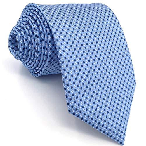 Shlax&Wing Mens Ties Blue Dots Business Necktie Silk Suit For Men Skinny