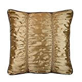 Austin Horn Classics Escapade Shirred European Pillow Sham in Gold